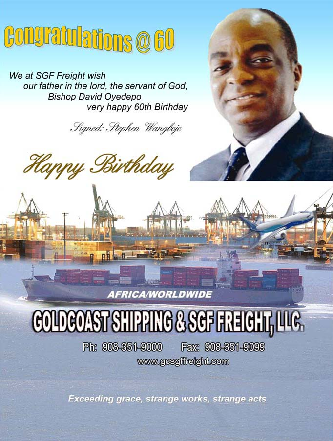 Bishop David Oyedepo at 60