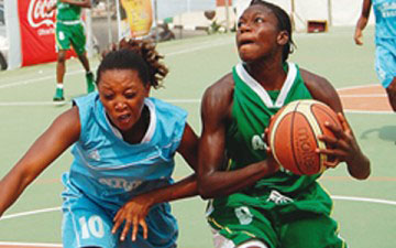 Team FCT taking on Team Niger in the women's basketball event ...on Tuesday